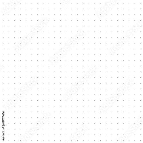 Seamless dotted copybook sheet illustration for design Canvas Print