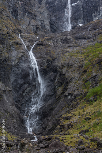 Deurstickers Noord Europa Mardalsfossen one of the highest waterfall in Europe, the place is spectacular