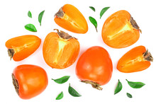 Persimmon Isolated On White Ba...