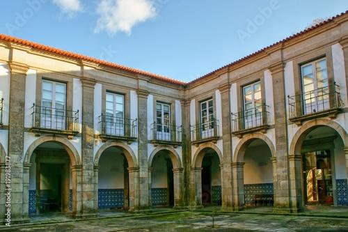 Cloister of Loios monastery in Santa Maria da Feira, Portugal