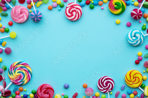 Aluminium Prints Candy Candy background