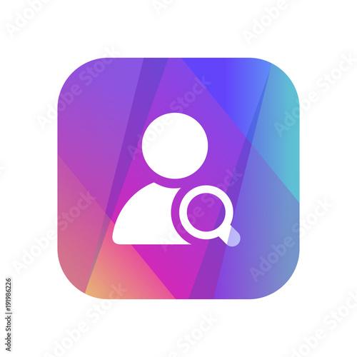 Photo Multi-Color App Button