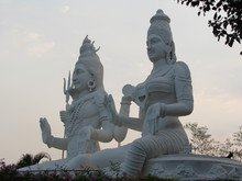 Side View Of Lord Shiva With P...
