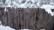 Beautiful Wooden Fence In The ...