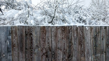 Fence Of Wood In The City In W...