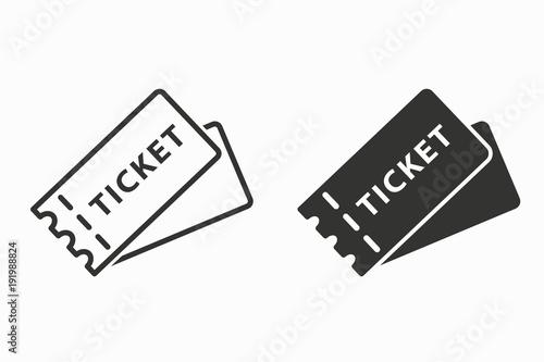 Cuadros en Lienzo  Ticket vector icon.