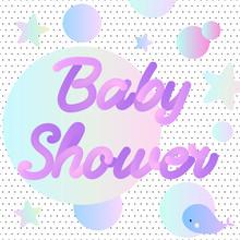 Neon Baby Shower Invitation Wi...