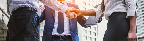 Fotografia  handshake of business People Colleagues Teamwork Meeting