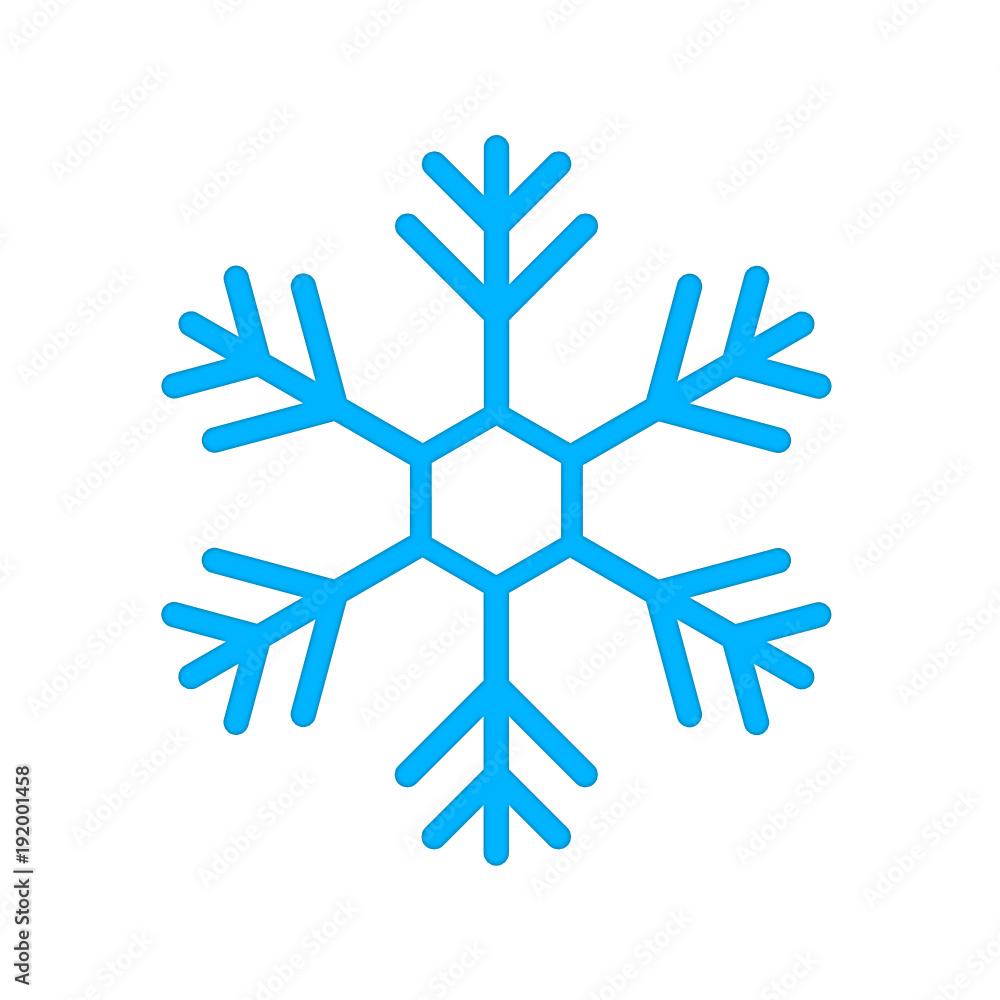 Fototapeta płatek śniegu ikona