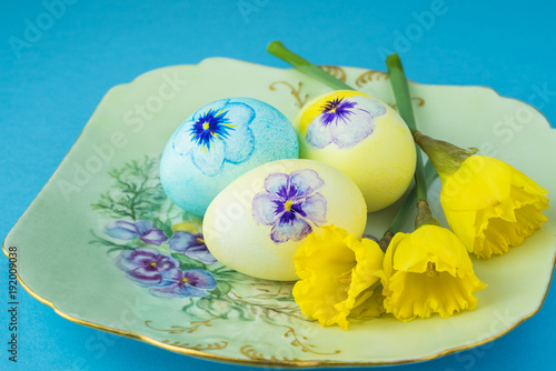 Fotografie, Obraz  Easter decorated eggs.