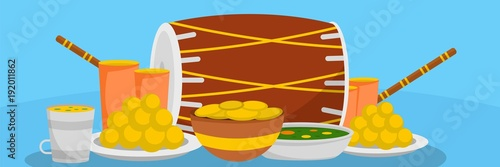 Obraz na plátně Lohri food banner
