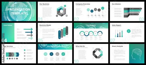 Fototapeta Business presentation templates obraz na płótnie