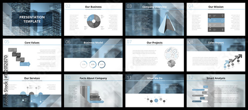 Fototapeta Business presentation templates obraz