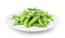 Green Beans In Plate On White ...