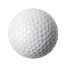 Golf Ball Isolated On White Ba...