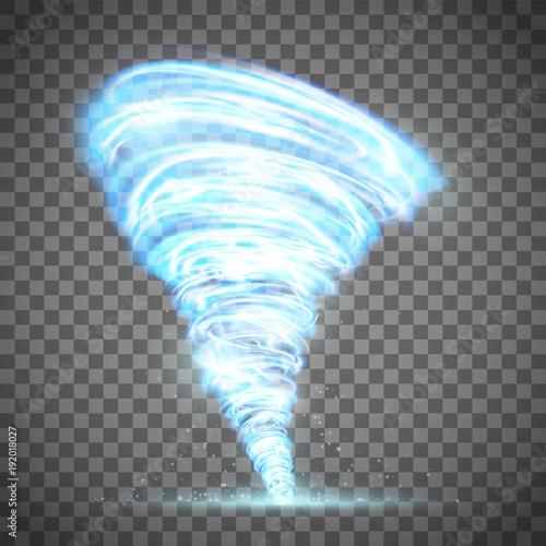 Fotografie, Obraz  Glowing tornado with lightning