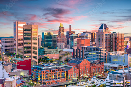plakat Baltimore, Maryland, USA Skyline