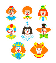 Clown Faces Different Avatars....