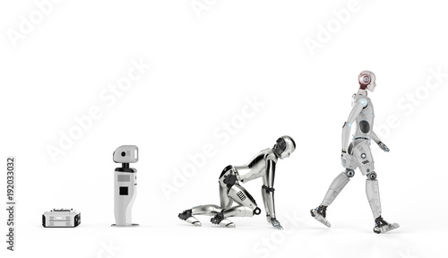 robot evolution or technology evolution Canvas