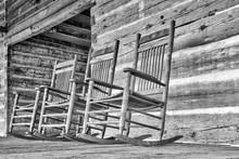 Vintage, Wood Rocking Chairs O...
