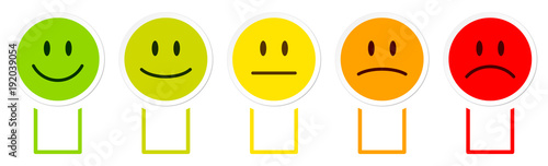 Photo 5 Smileys Color Boxes Horizontal