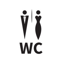 Woman In Evening Dress And Man In Tuxedo