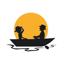 Silhouette Of Couple Having A ...