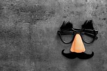 Funny Glasses On Grey Backgrou...