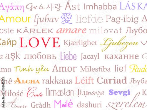Fotografie, Obraz  背景素材 LOVE 世界の言葉