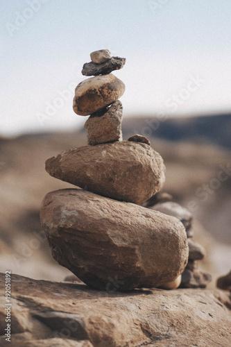 Photo sur Plexiglas Zen pierres a sable Rock Sculpture