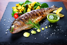 Grilled Trout With Potato And ...
