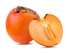Fresh Persimmon Isolated On Wh...
