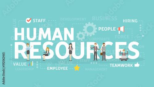Valokuva Human resources concept.