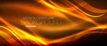 Neon Orange Elegant Smooth Wav...