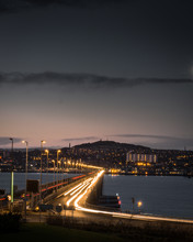 Dundee Road Bridge Looking Over The City From Fife.