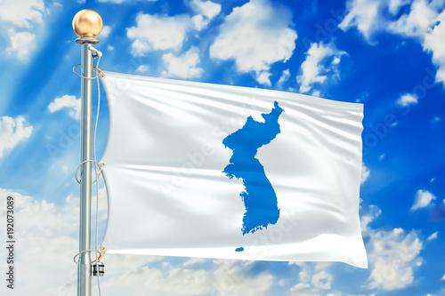 Fotografie, Obraz  Korean Unification Flag, 3D rendering