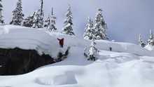 Skier Triggers Avalanche In Ba...