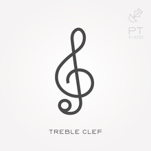 Line Icon Treble Clef