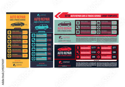auto repair service flyer layouts buy this stock template and