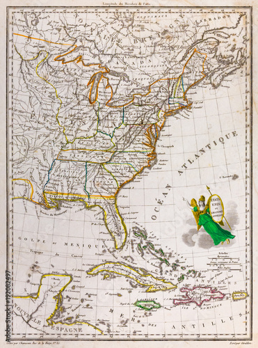 Map Of America In 1812.Antique Map Of The United States Of America 1812 Buy This Stock