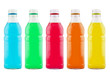Juice bottle on white background (with clipping path)