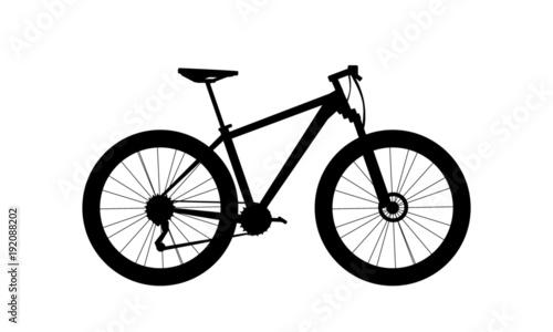 Foto  silhouette mountain bike vector
