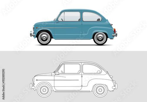 Photo Vector illustration of Fiat 500 1957 - 1975