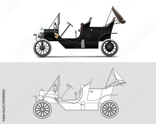 фотография Vector illustration of Ford Model T 1910