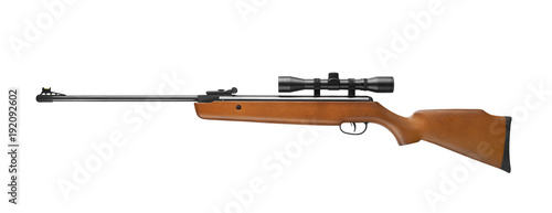 Fotografía Air rifle wiht sniper scope