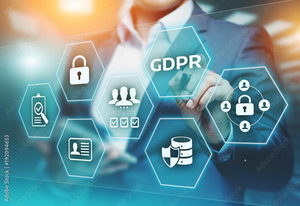 Fototapety, obrazy: GDPR General Data Protection Regulation Business Internet Technology Concept