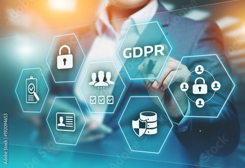 Fotomural  GDPR General Data Protection Regulation Business Internet Technology Concept