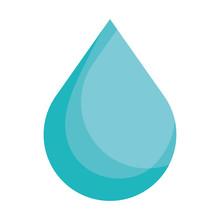 Drop Liquid Isolated Icon Vect...