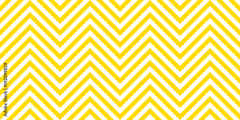 Fototapety, obrazy: Summer background chevron pattern seamless yellow and white.