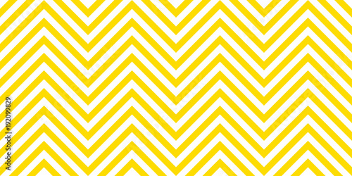 Foto-Tapete - Summer background chevron pattern seamless yellow and white. (von Strawberry Blossom)
